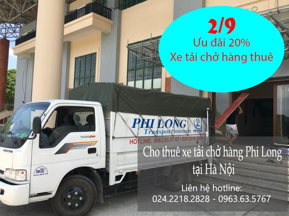 Ưu đãi cho thuê xe tải ngày Quốc Khánh 2-9