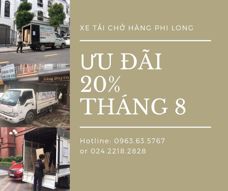 Dịch vụ taxi tải tại phố Tây Trà