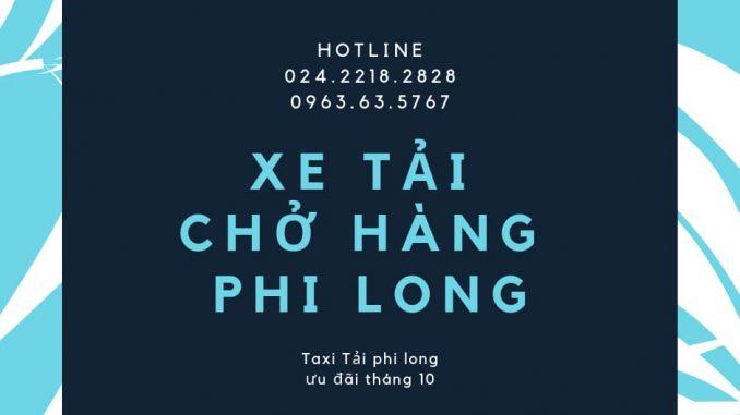 Dịch vụ giá rẻ taxi tải Phi Long tại phố Kim Quan