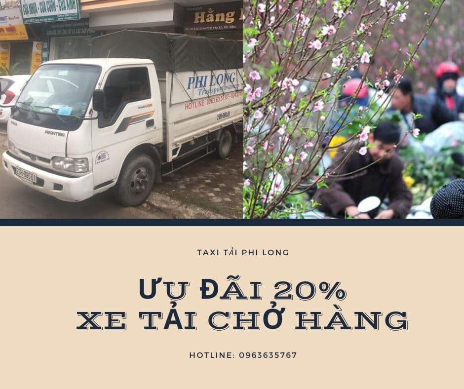 Dịch vụ vận chuyển hàng Tết tại xã Việt Hùng