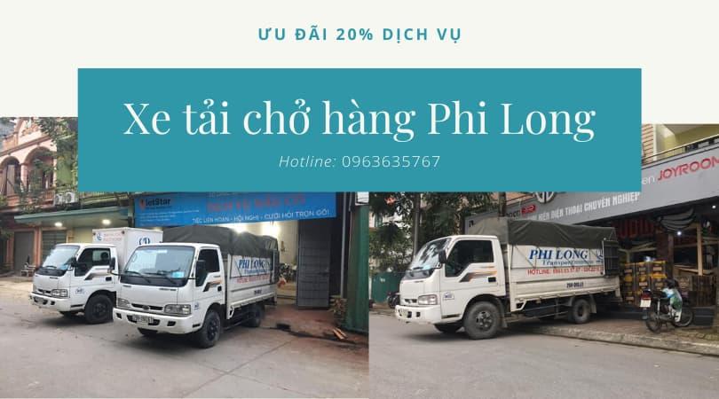 Dịch vụ taxi tải tại xã Lại Yên