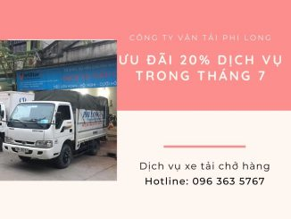 Dịch vụ taxi tải giá rẻ Phi Long tại xã Tân Minh