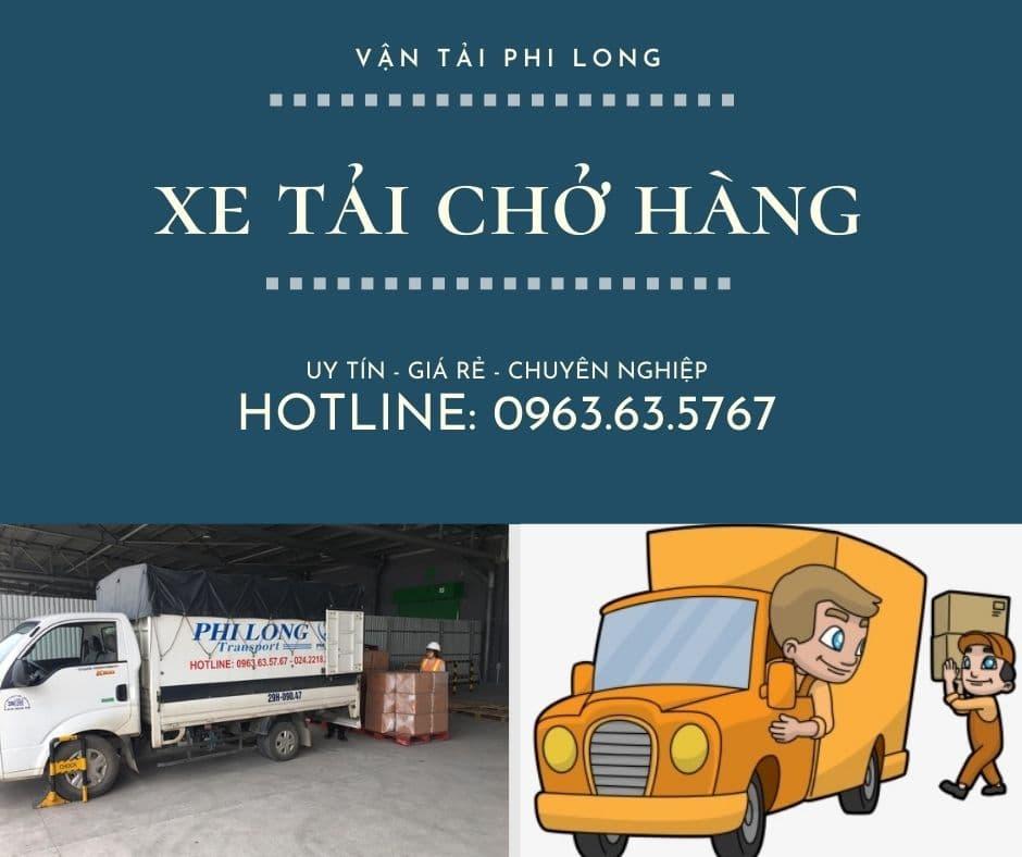 Dịch vụ taxi tải giá rẻ Phi Long tại xã Cẩm Yên